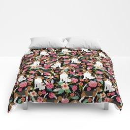 Beagle Floral design beagle florals dog design cute dogs Comforters