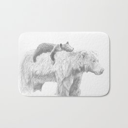 Mama and Cub Bath Mat