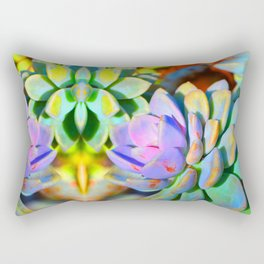 Succulent Color - Botanical Art by Sharon Cummings Rectangular Pillow