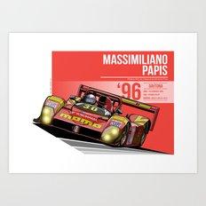 Massimiliano Papis - 1996 Daytona Art Print