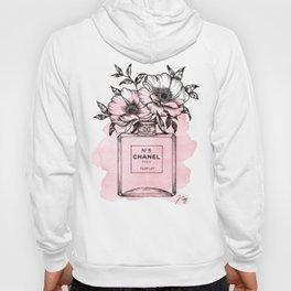 Floral Fragrance Pink Hoody