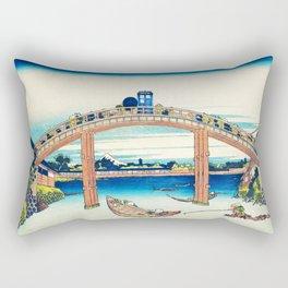 Tardis At The Bridge Rectangular Pillow