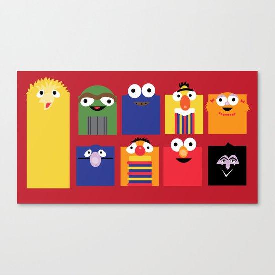 Sesame street Canvas Print