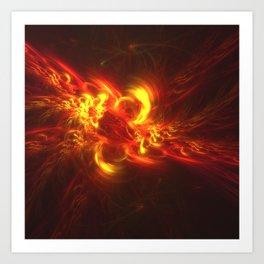 Fractal Flame Explosion Art Print