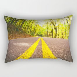 Road in the Forest Rectangular Pillow