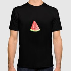 Watermelon Red Piece Mens Fitted Tee Black MEDIUM