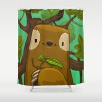 Sally the Sloth Shower Curtain