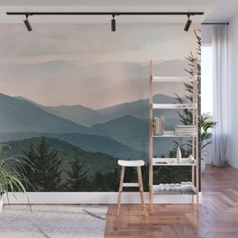 Smoky Mountain Pastel Sunset Wall Mural