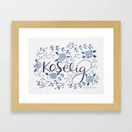 Koselig - Blue Framed Art Print