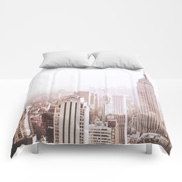 New York City Late Afternoon Comforters