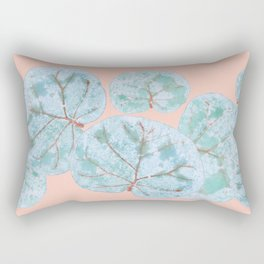 Tropical Sea Grape Leaves Rectangular Pillow