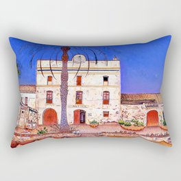 Joan Miro House with Palm Tree Rectangular Pillow