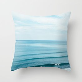Pretty Waves Throw Pillow