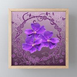 Violet fantasy in frame Framed Mini Art Print