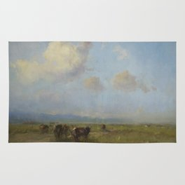 Cows in the Meadow Rug