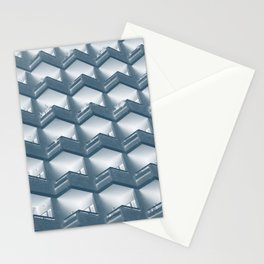 modern apartments - blue Stationery Cards
