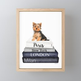 yorkshire terrier, Books, Yorkie, Fashion books, Fashion illustration, Fashion, Amanda Greenwood Framed Mini Art Print