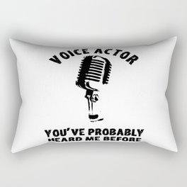 Voice Actor Synchronizer Speaker Synchro Rectangular Pillow