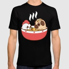 Chicken Noodle Puglie Soup Black LARGE Mens Fitted Tee