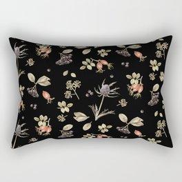 rosehip, chokeberries and teasel III Rectangular Pillow