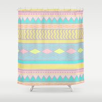 egyptian Shower Curtains featuring Egyptian II by Louise Machado