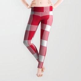 Plaid Crimson Red Leggings