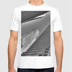 Downtown L.A. MEDIUM White Mens Fitted Tee