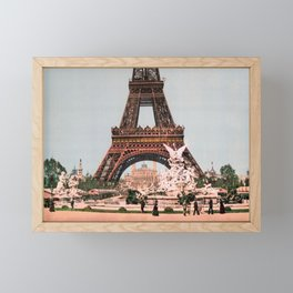 Eiffel Tower - The Exposition Universelle at Paris - 1900 Framed Mini Art Print
