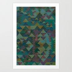 Delta Tribe - Green Art Print