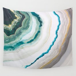 Green Agate #1 Wall Tapestry