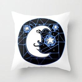Moon and Stars Trellis Throw Pillow