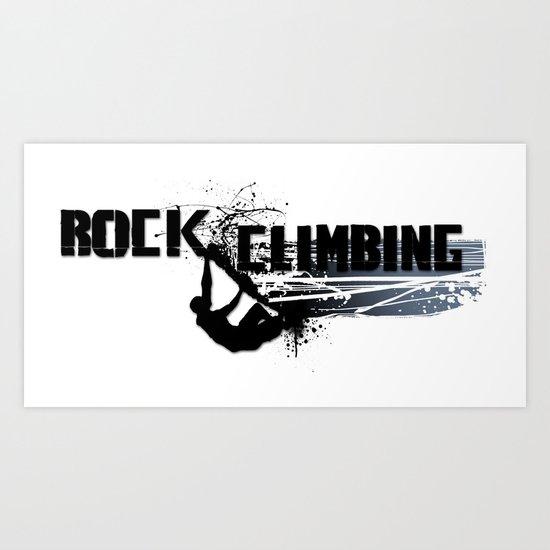 Rock Climbing - Male Art Print