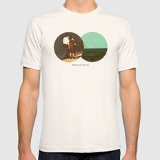 Boring by The Sea | Collage LARGE Natural Mens Fitted Tee