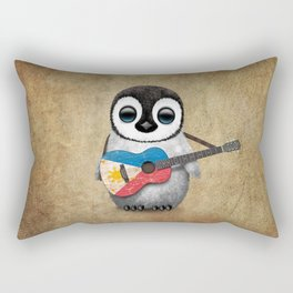 Baby Penguin Playing Filipino Flag Acoustic Guitar Rectangular Pillow