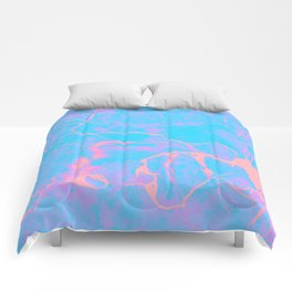 Pink and Blue Marble Comforters