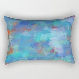 Paint Strokes Two Rectangular Pillow