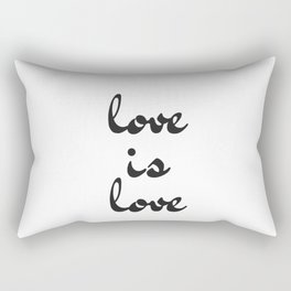 love is love black and white Rectangular Pillow
