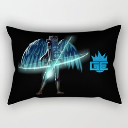 Luc Ready for Battle (Black/Dark Background) Rectangular Pillow