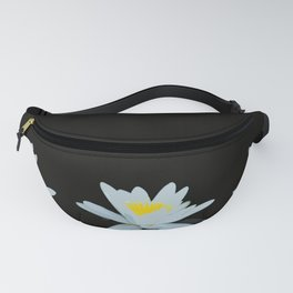 Waterlily Flowers On Black Background #decor #society6 #buyart Fanny Pack