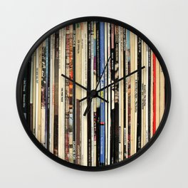 Classic Rock Vinyl Records Wall Clock