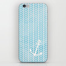 Anchor in Blue iPhone & iPod Skin
