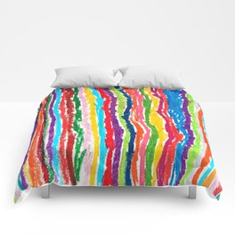 Coloured crayon stripes Comforters