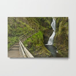 Waterfall in the Glenariff Forest Park in Northern Ireland Metal Print