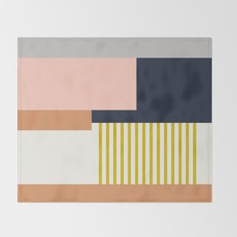 Sol Abstract Geometric Print in Multi Throw Blanket