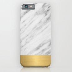 Carrara Italian Marble Holiday Gold Edition iPhone 6 Slim Case