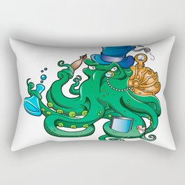 illustration of Steampunk octopus Rectangular Pillow