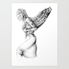 Greek Medusa Statue Art Print