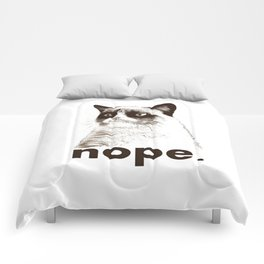 GRUMPY CAT - Nope (version 2) Comforters