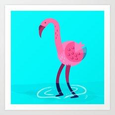 Flamingo illustration  Art Print