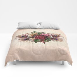 Peacock Feather Bouquet Comforters